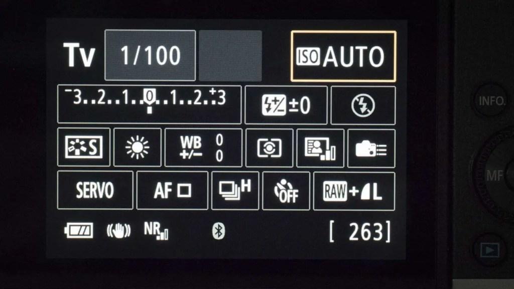 Canon EOS M6 review - Quick Control Screen