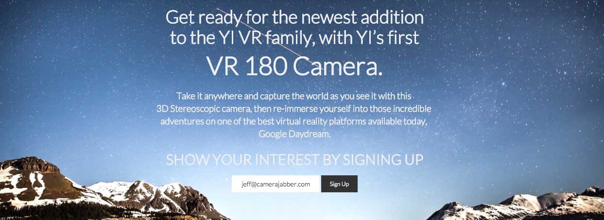 Yi, Google to develop VR 180 camera