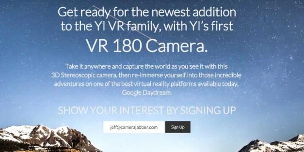 Yi, Google to develop VR 180 camera
