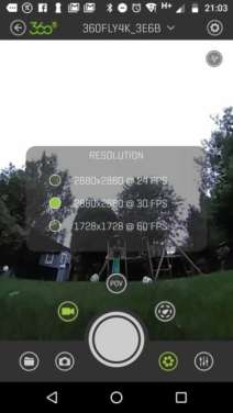 360Fly 4K Review: App Screenshot 1