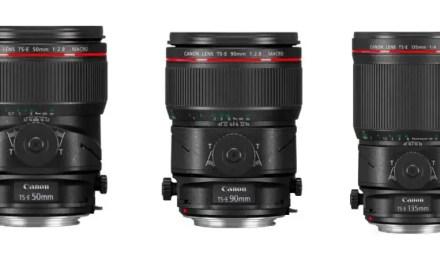 Canon debuts TS-E 50mm f/2.8L, 90mm f/2.8L, 135mm f/4L MACRO tilt-shift lenses