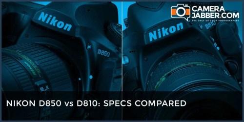 Nikon D850 vs Nikon D810 Spec compared