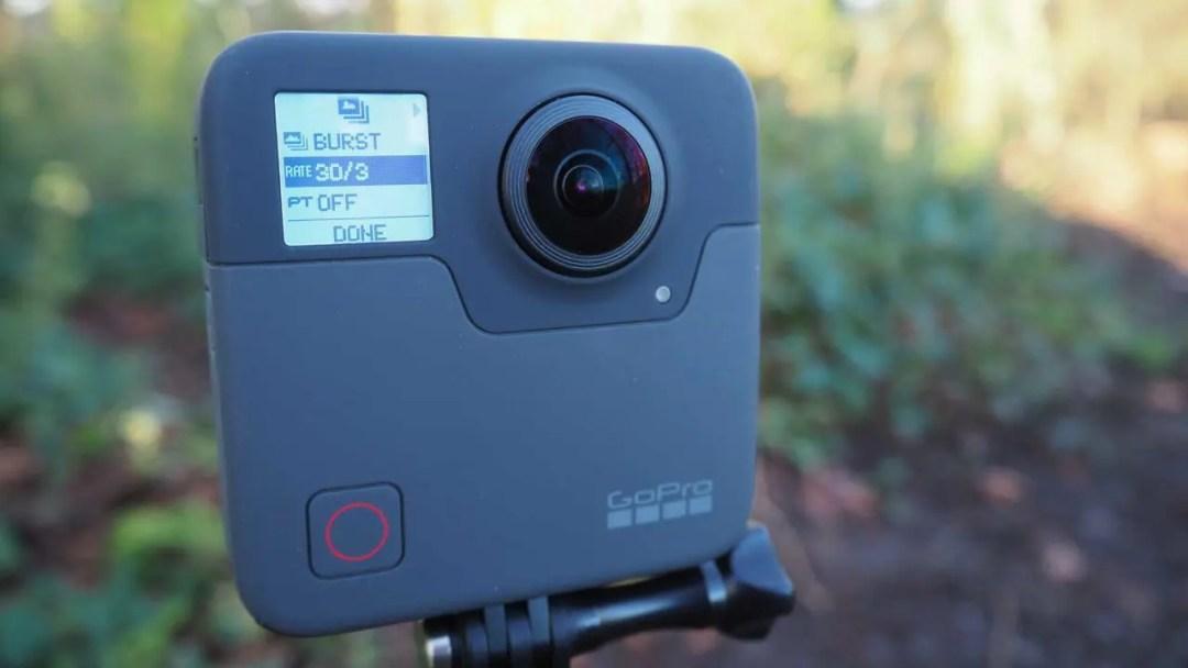 Using the GoPro Fusion's Burst Mode