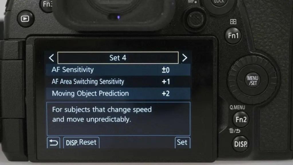 Panasonic Lumix G9: AF Custom Setting (Photo)