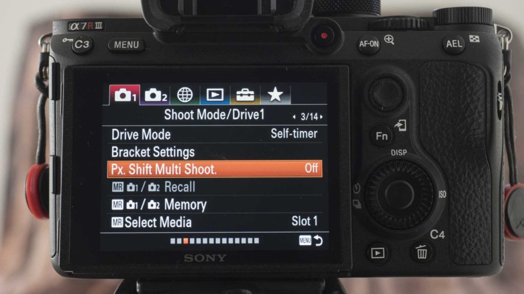 Sony Pixel Shift Multi Shooting Mode