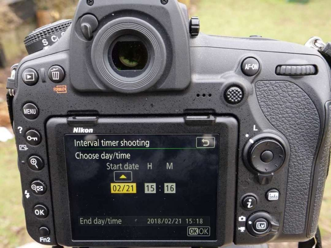 Nikon D850 timelapse tutorial: set date and time