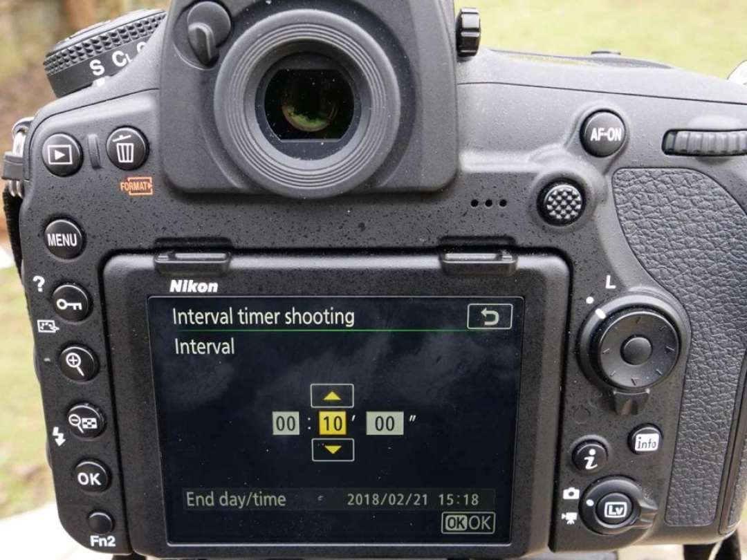 Nikon D850 timelapse tutorial: shots per interval