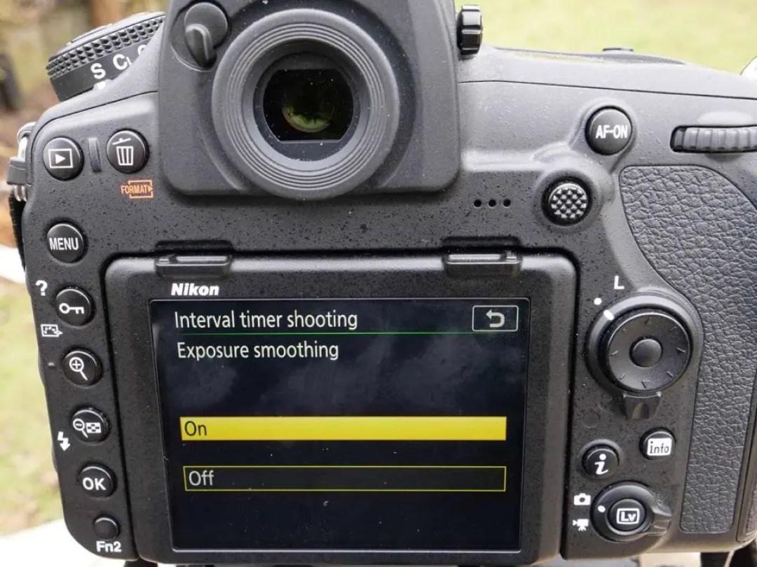 Nikon D850 timelapse tutorial: exposure smoothing