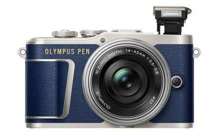 The blue Olympus PEN E-PL9 is now available in the US