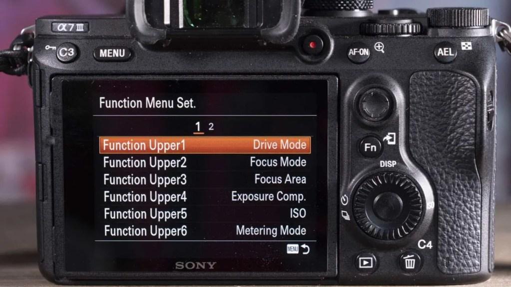 How do you customise the Sony A7 III
