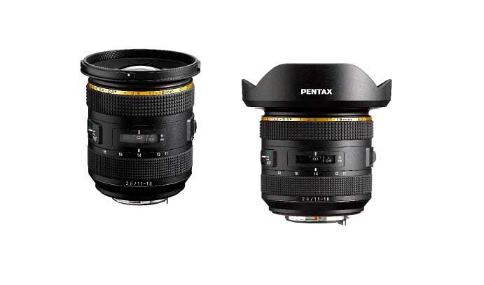 Pentax launches HD PENTAX-FA 35mm f/2, HD PENTAX-DA*11-18mm f/2.8 ED DC AW lenses