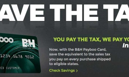 B&H Photo launches credit card to repay your online sales tax