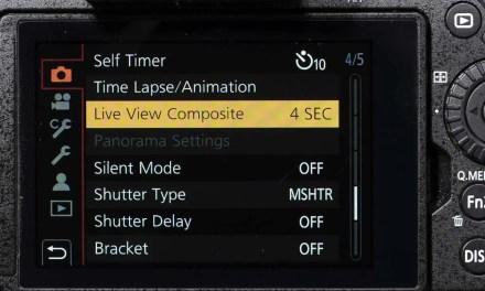 How do you use Panasonic Live View Composite mode?