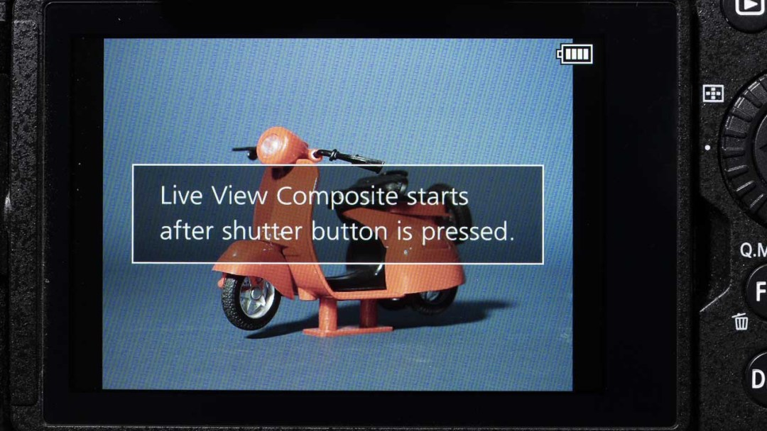 How do you use Panasonic Live View Composite mode?
