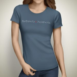 Camera Japan 2021 T-shirt Female Indigo Blue Front