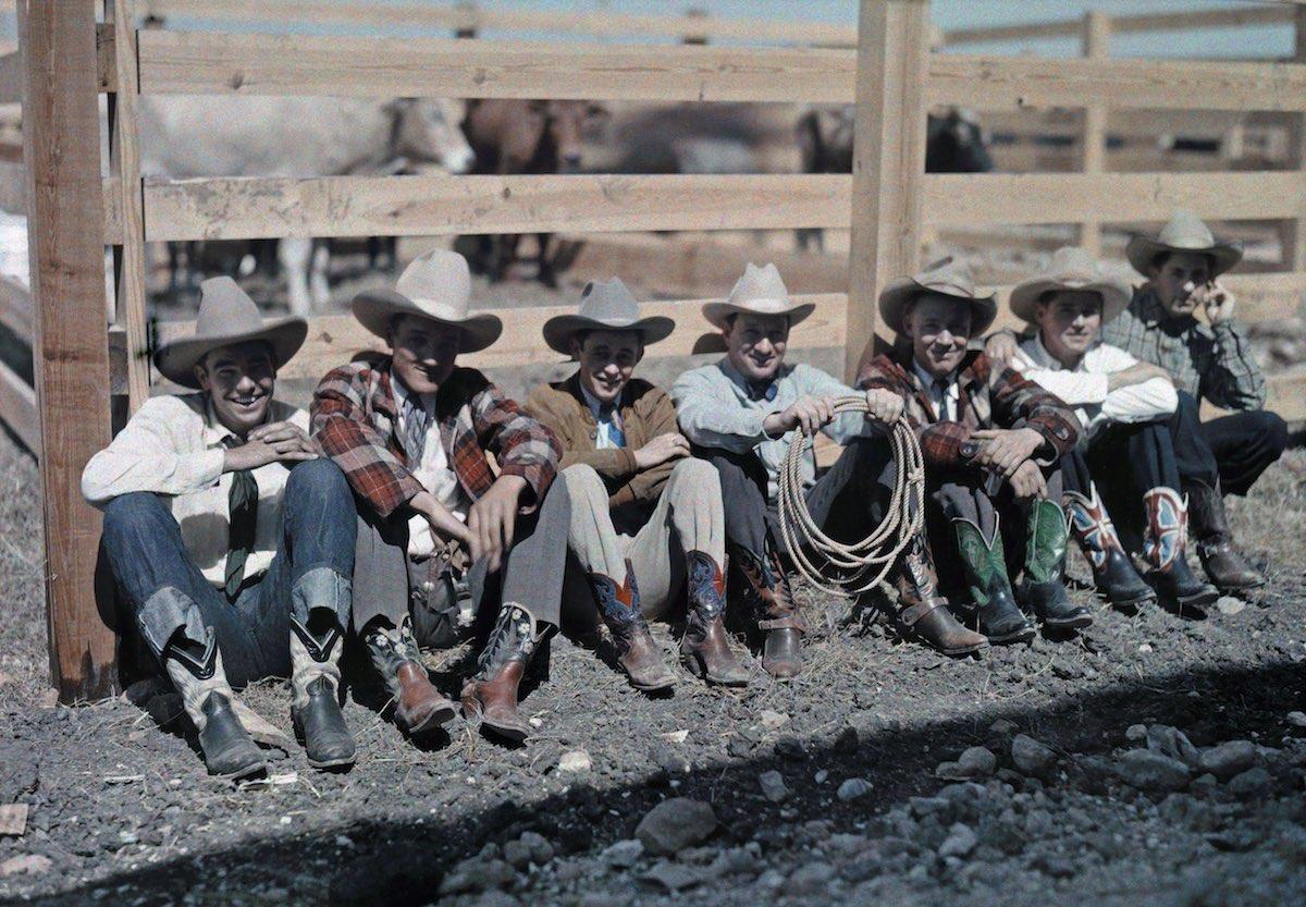 США в начале ХХ века - 50 цветных автохромных фотографий - 14