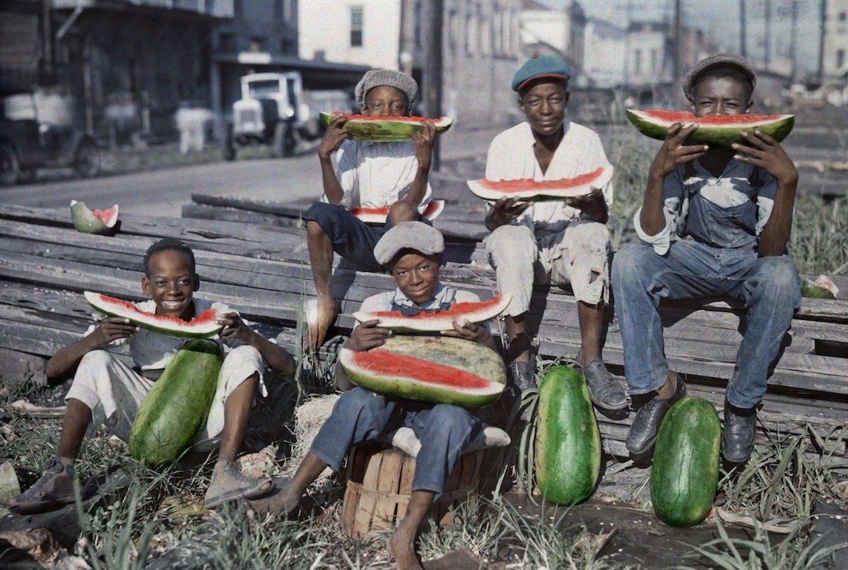 США в начале ХХ века - 50 цветных автохромных фотографий - 38