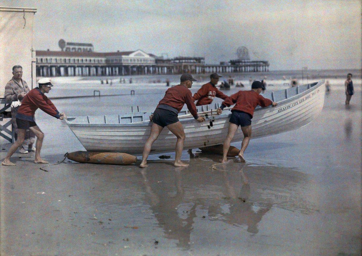 США в начале ХХ века - 50 цветных автохромных фотографий - 46