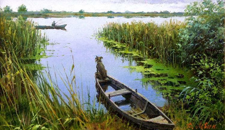 Вдали от суеты: деревенская живопись Дмитрия Лёвина 18