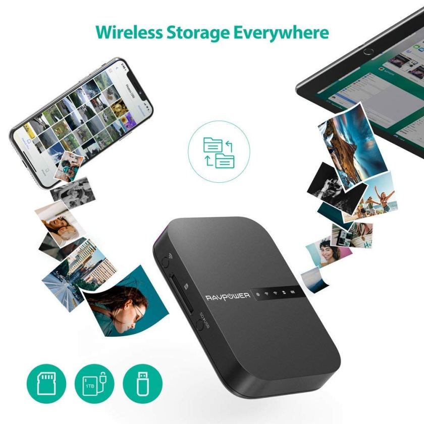 RAVPOWER – FileHub RP-WD009 + Wireless Travel Router (ประกันศูนย์)