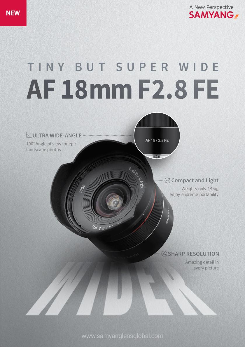 พรีวิวเลนส์ Samyang AutoFocus ใหม่ 18mm F2.8 – Sony FE mount