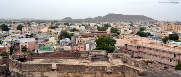 City of Bhuj from the top of Pragmahal Palace