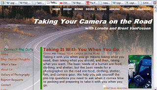 800x600 view of Taking Your Camera on the Road front page