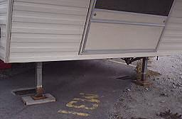 The landing gear or trailer legs of our fifth wheel break down more often than hold up