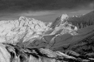 Photo of adjusted exposure of the Matanusaka Glacier, Alaska