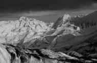Photo of underexposure of the Matanusaka Glacier, Alaska