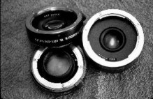 Photograph of teleconverter lenses