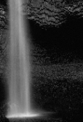 Photo example of flowing waterfall