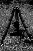Example of turning the tripod head upside down on the legs