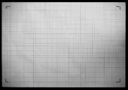 Test image of grid paper reveals what is really photographed compared to what is seenthrough the viewfinder