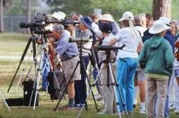 Bird photographers and watchers line up at Ding Darling, Florida. Photo by Brent VanFossen