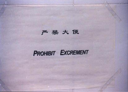 Bad English Sign from China - Prohibit Excretment