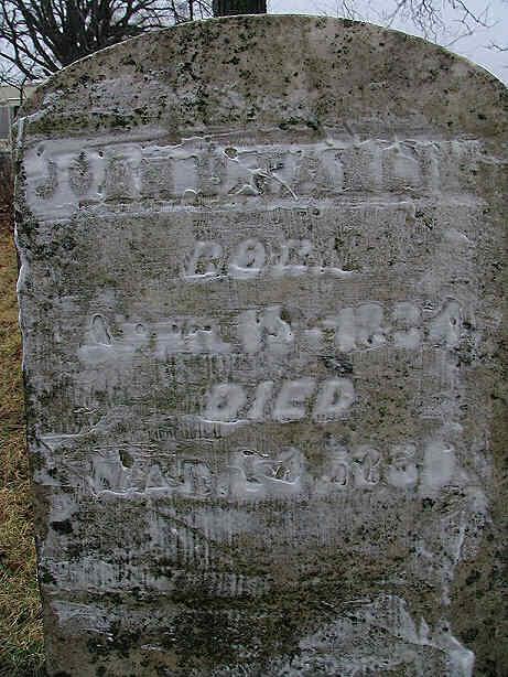 John D. Farlin Tombstone, Raisin Township, Lenawee County, Michigan