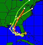 weatherunderground computer model for hurricane katrina