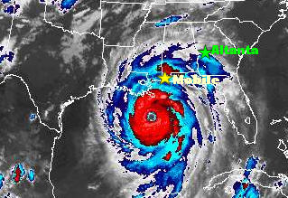 NOAA Satellite Picture of Hurricane Katrina