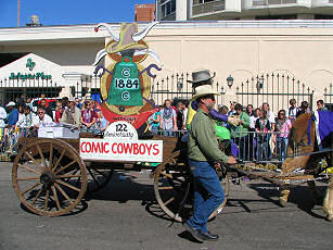 Comic Cowboys, Mardi Gras Parade, Mobile, Alabama, 2006, photograph by Lorelle VanFossen