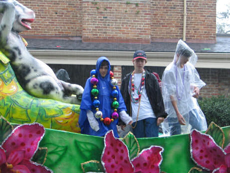 The Floral Parade in Mobile, Alabama, rained out