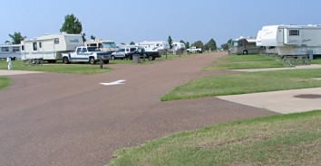 Grand Casino of Tunica RV Resort - pavement parking lot for trailers and motorhomes, photograph by Lorelle VanFossen