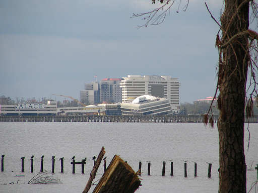 Biloxi floating casino wrecked ashore