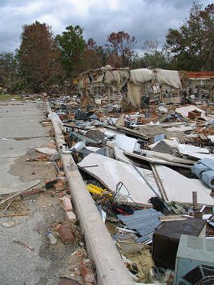 Hurricane Katrina Damage on Gulf Shores