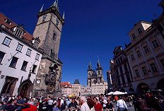 Prague Clock Tower Main Square, photograph by Lorelle VanFossen