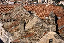 Rooftops of homes in the old city of Dubrovnia, Croatia, photograph by Brent VanFossen