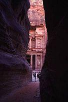 Entrance to Petra, Jordan, photo by Brent VanFossen