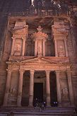 The stone monuments of the lost city of Petra, Jordan, photograph by Brent VanFossen