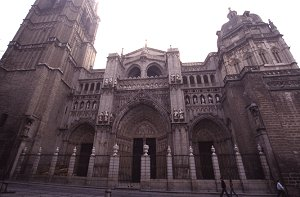 The front facade of the cathedral, Toledo, Spain, photograph by Brent VanFossen