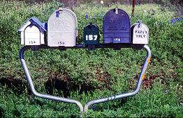 Mailboxes in Texas, photo by Brent VanFossen